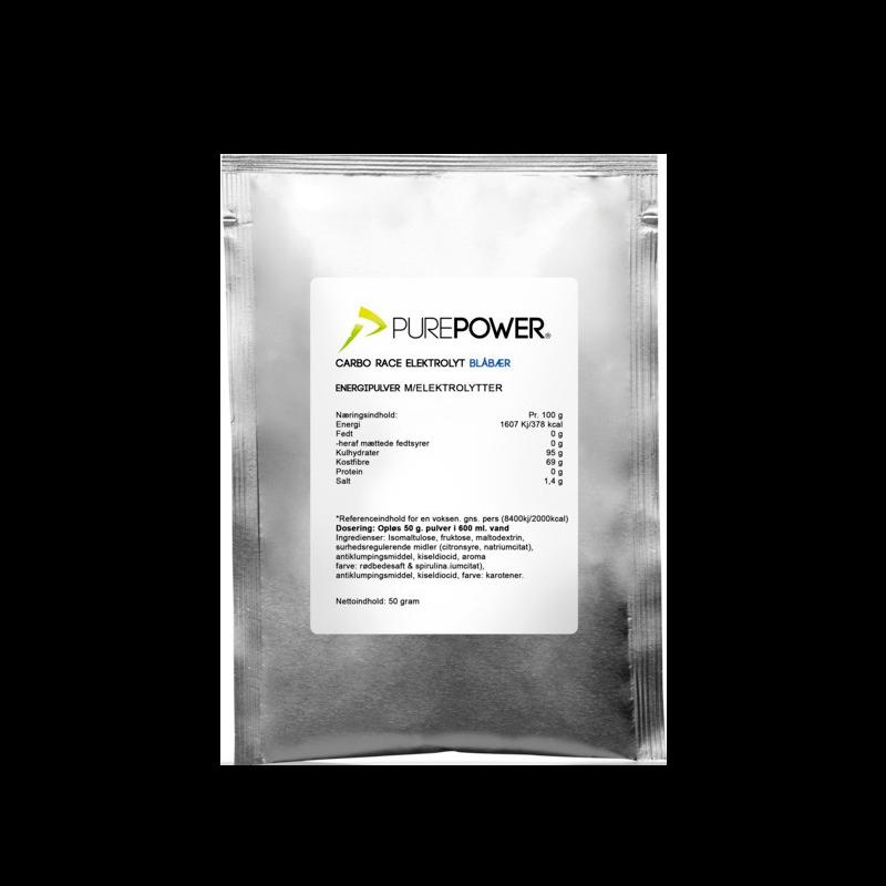 PurePower Carbo Race Electrolyte Blåbær (50 g)
