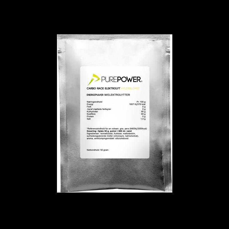 PurePower Carbo Race Electrolyte Hyldeblomst (50 g)