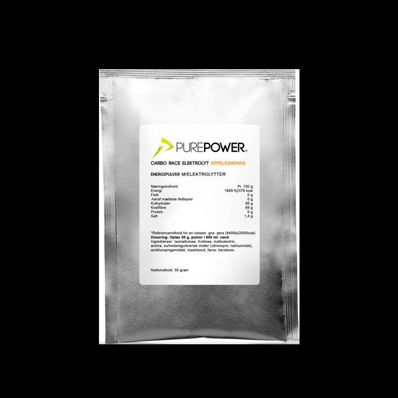 PurePower Carbo Race Electrolyte Appelsin (50 g)