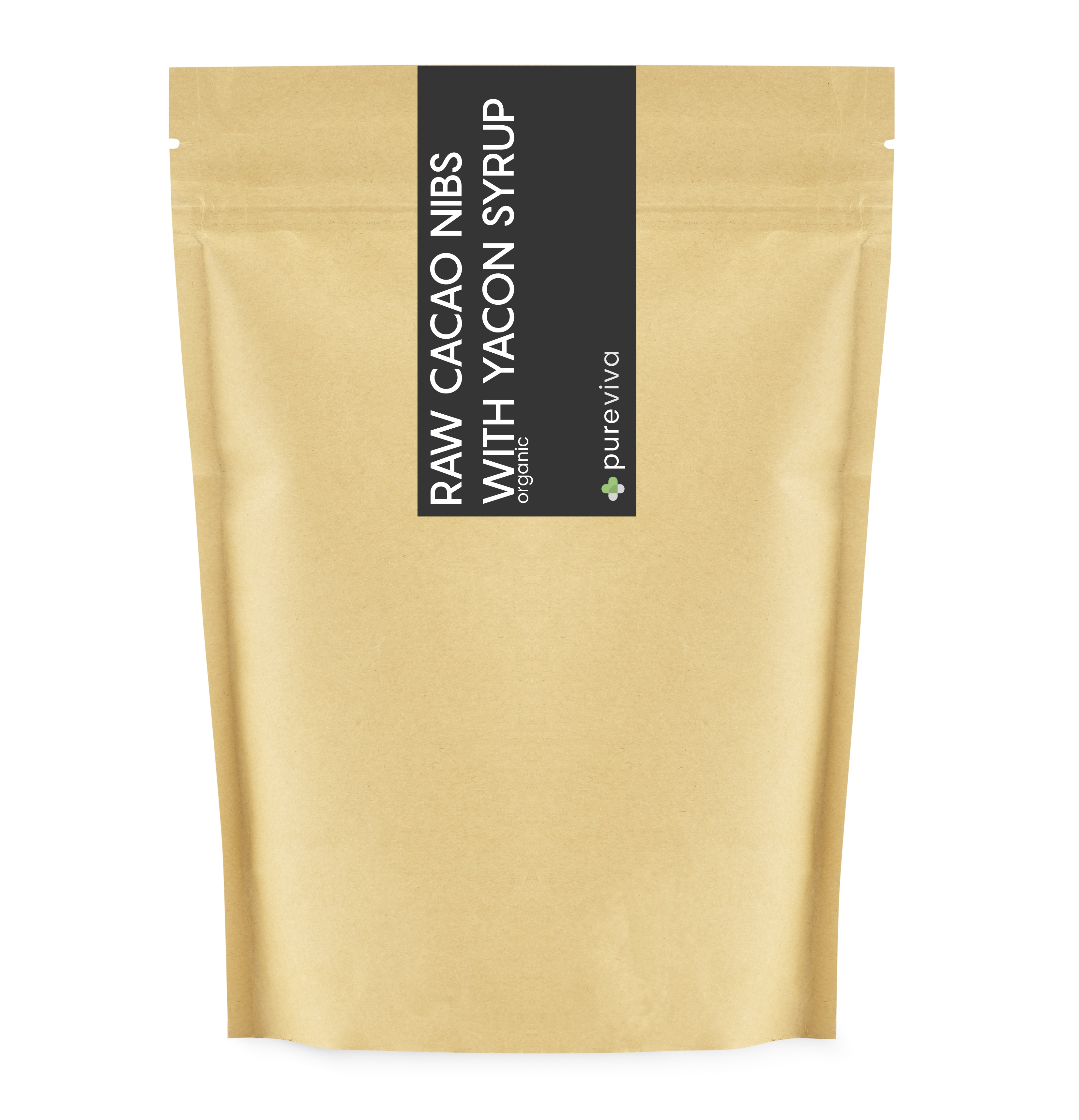 Image of Pureviva Organic Raw Criollo Cacao Nibs with Yacon Syrup (250 g)