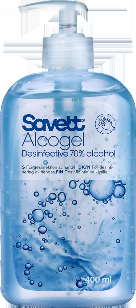 Image of Savett Alcogel Pump (400 ml)