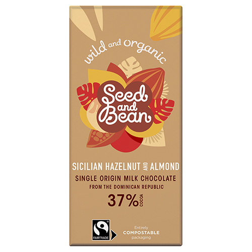 Seed And Bean Seed & Bean Rich Milk Chocolate 37% Sicilian Hazelnut & Almond Ø