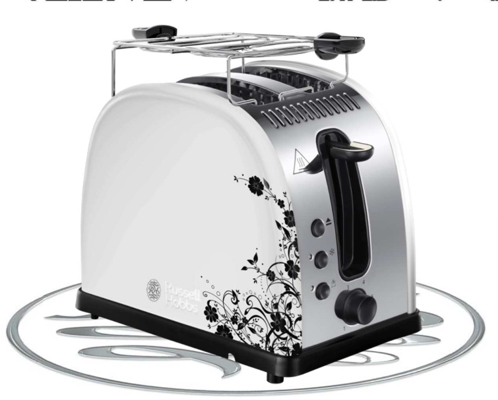 Russell Hobbs Legacy Floral 2 Slice Toaster