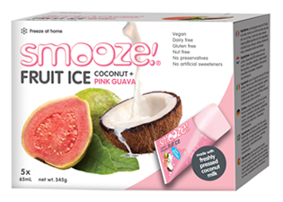Image of Smooze! Fruit Ice Coconut & Pink Guava (5 stk x 65 ml)