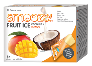 Image of Smooze! Fruit Ice Coconut & Mango (5 stk x 65 ml)