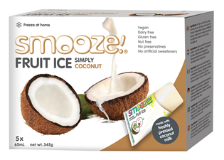 Image of Smooze! Fruit Ice Simply Coconut (5 stk x 65 ml)