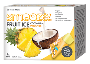 Image of Smooze! Fruit Ice Coconut & Ananas (5 stk x 65 ml)