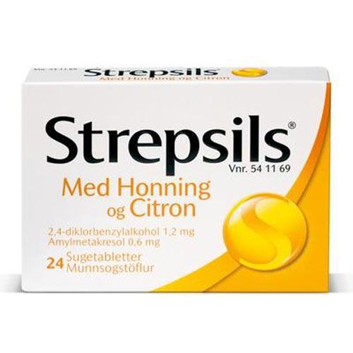 Image of Strepsils Honning/Citron Sugetabletter (24 stk)