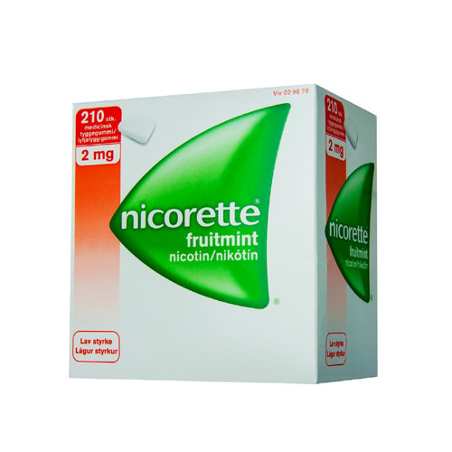 Image of Nicorette Fruitmint Tyggegummi 2 mg (210 stk)