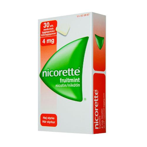Image of Nicorette Fruitmint Tyggegummi 4 mg (30 stk)