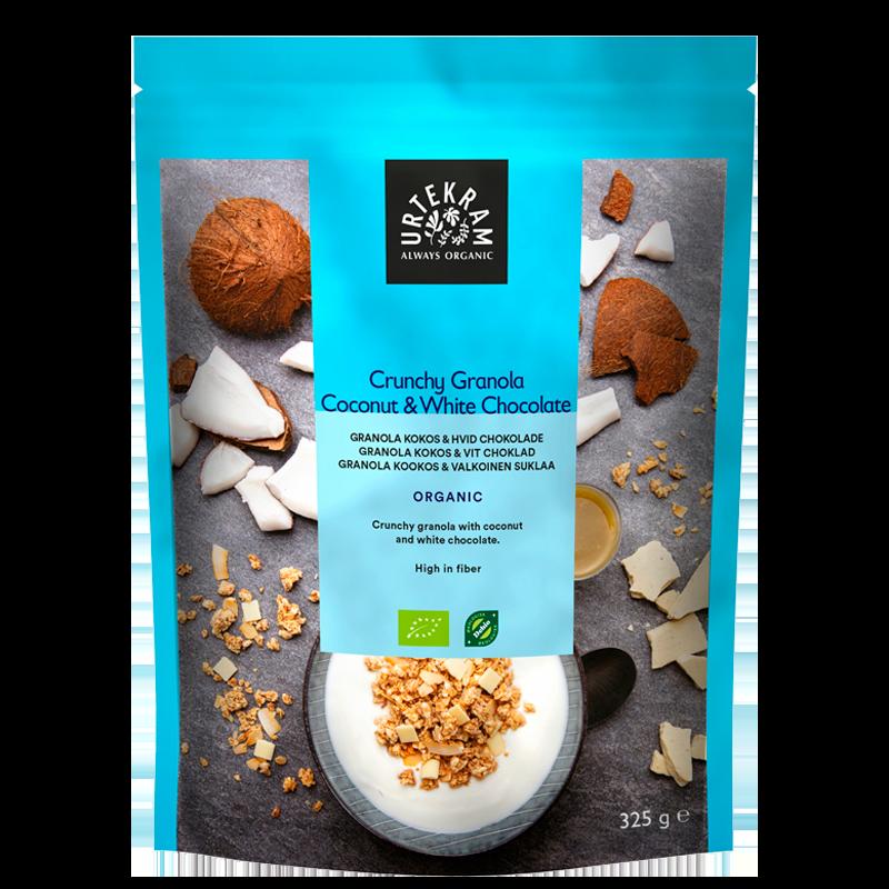 Urtekram Crunchy Granola Kokos & Hvid Chocolade Ø