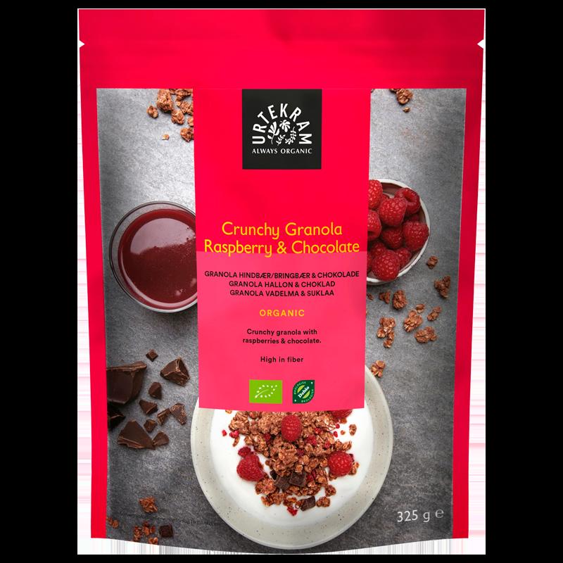 Urtekram Crunchy Granola Hindbær & Chocolade Ø