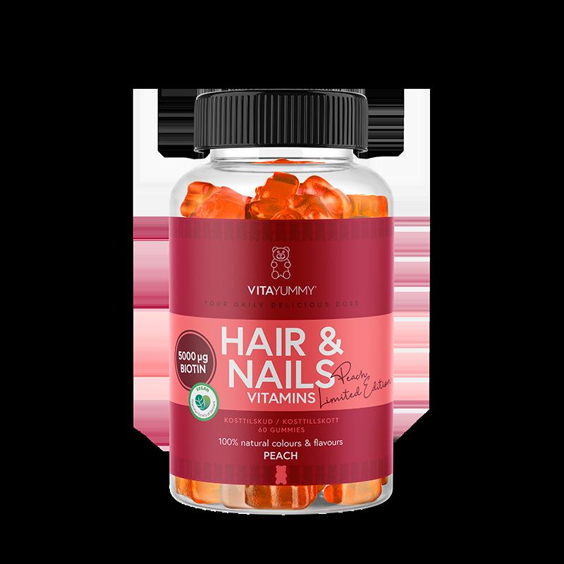 VitaYummy Hair & Nails Peach Limited Edition (60 stk)
