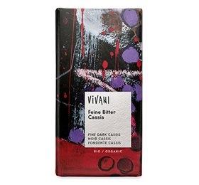 Image of Vivani bitter solbærchokolade Ø 100 gr.
