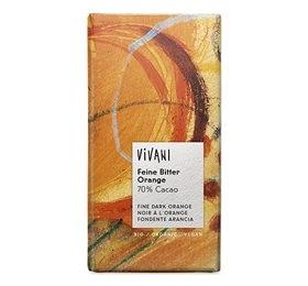 Image of Vivani chokolade bitter m/orange Ø 100 gr.
