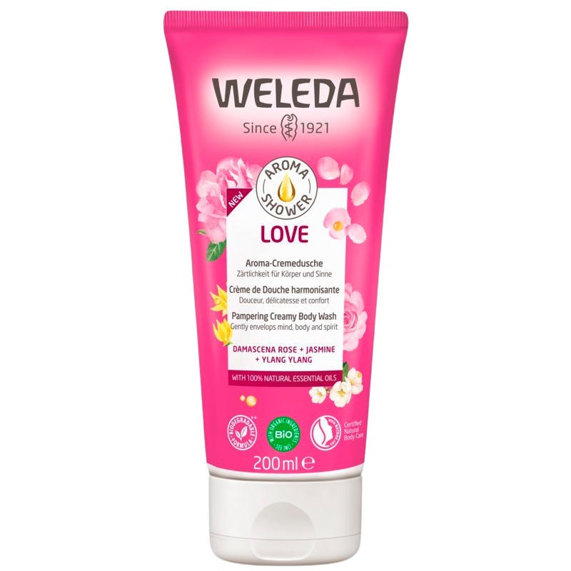 Weleda Aroma Shower Love Creamy Body Wash (200 ml)