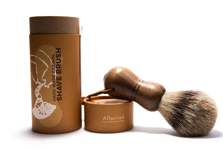 Image of Alluvian Caravel Shave Brush American Walnut (1 stk)