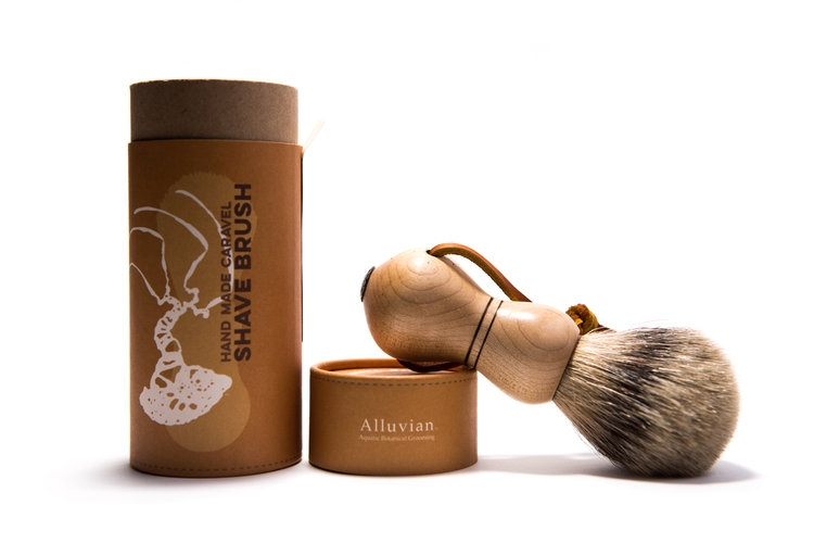 Image of Alluvian Caravel Shave Brush Sugar Maple (1 stk)