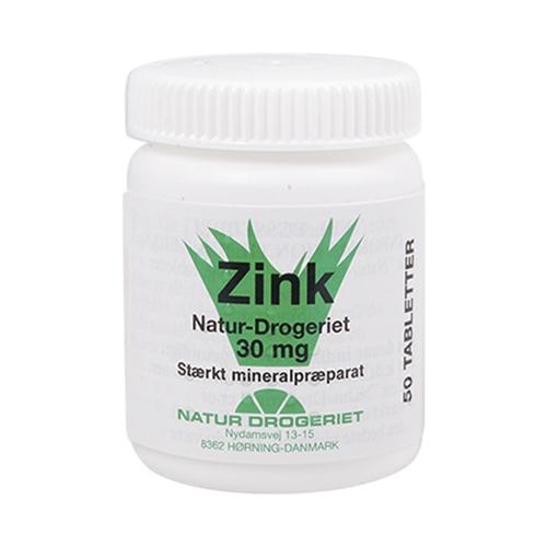 Image of Natur Drogeriet Zink 30 mg (50 tabletter)