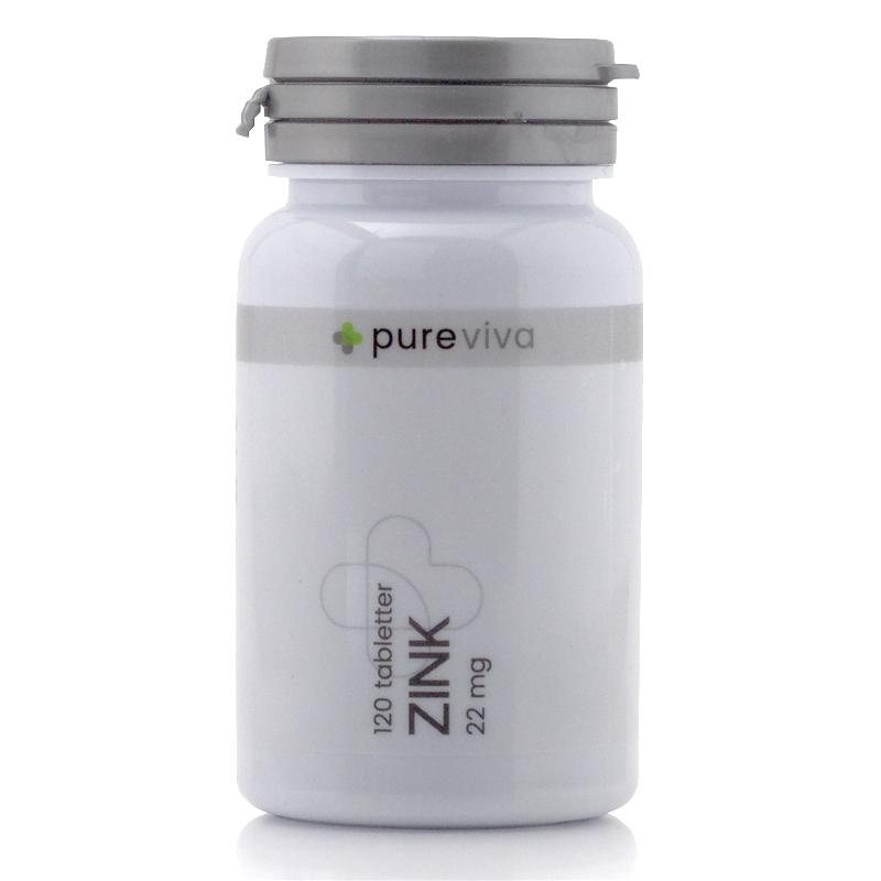 Image of Pureviva Zink 22mg (120 tab)