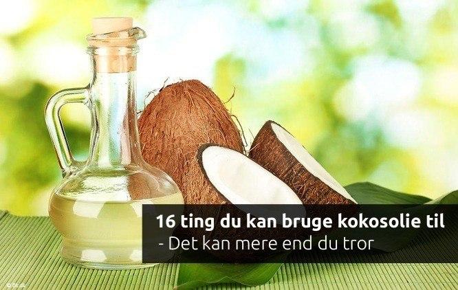 16 ting du kan bruge kokosolie til