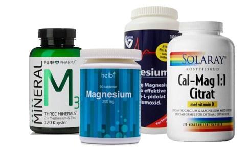 Stort udvalg af magnesium