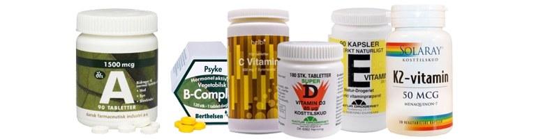 Stort udvalg af Vitaminer