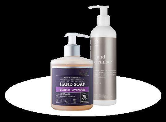 Udvalgte produkter til en god håndhygiejne