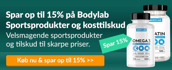 Spar op til 15% på Bodylab