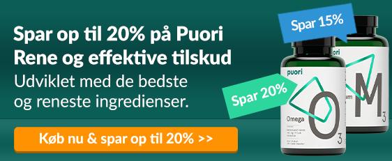 Spar op til 20% på Puori